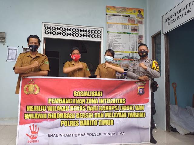 Polsek Benua Lima Gencar Laksanakan Sosialisasi Saber Pungli