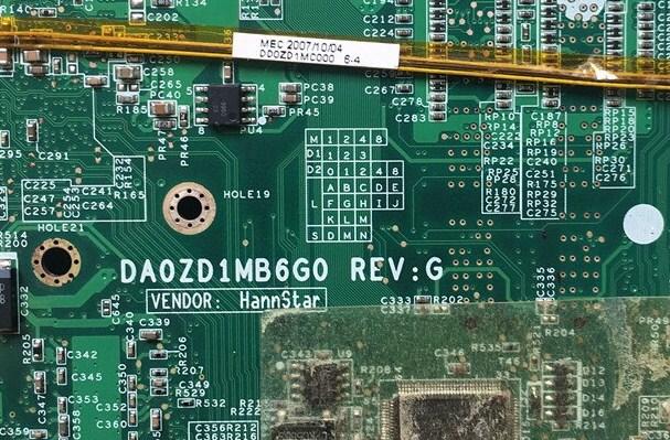 DA0ZD1MB6G0 REV G Acer aspire 5920 5920G Bios