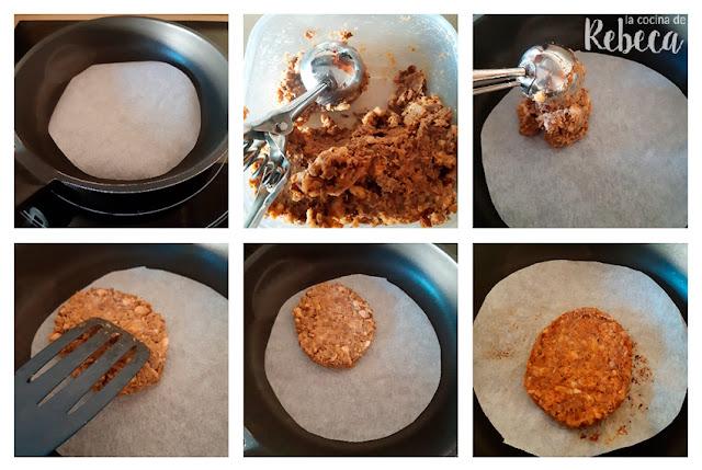 Receta de hamburguesa de lentejas: formado y cocinado