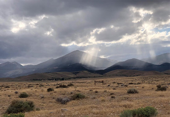 Light beams through the clouds on the way out of the GBNP (Source: Palmia Observatory)