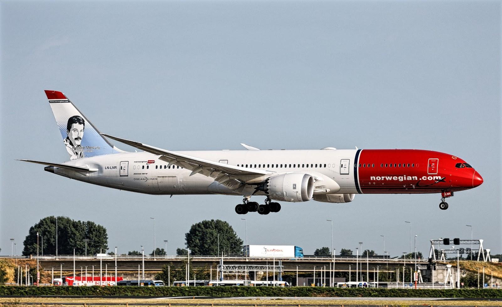 Boeing 787-9 Dreamliner of norwegian air