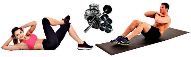 abdominales durante los descansos entre series y ejercicios