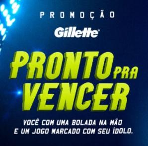 Cadastrar Promoção Pronto Pra Vencer Gillette