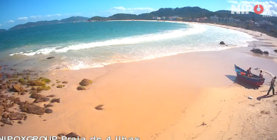 Câmera ao vivo da Praia de 4 Ilhas Bombinhas SC