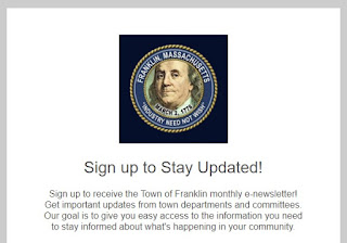 Did you subscribe to the Town of Franklin Newsletter?