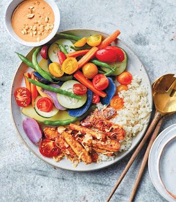 Vegan Instant Pot: Gado Gado Salad with Lemongrass Tempeh Recipe
