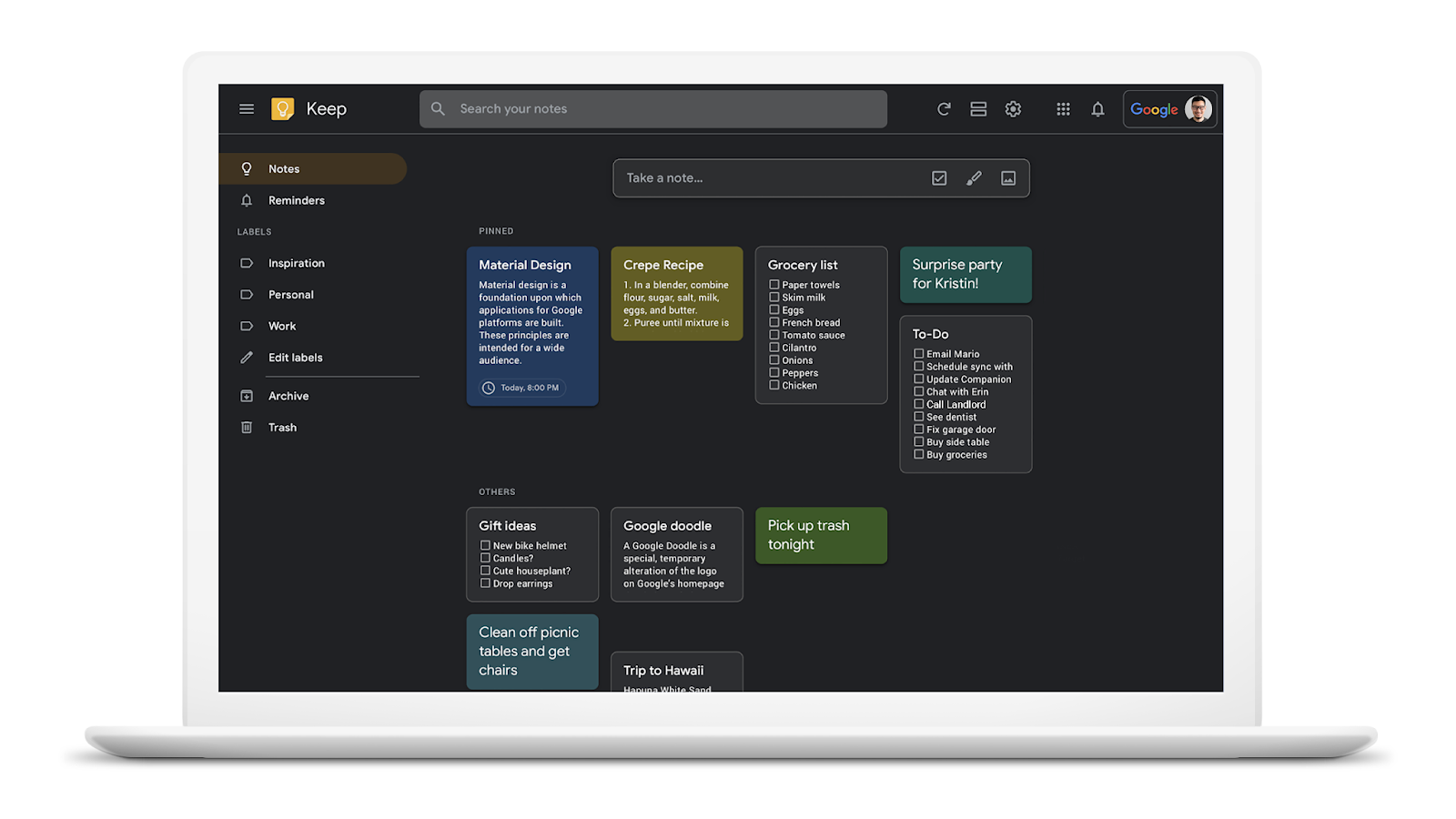 G Suite Updates Blog: Dark mode now available for Google