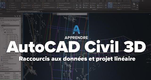 Apprendre AutoCAD Civil 3D Raccourcis aux données et projet