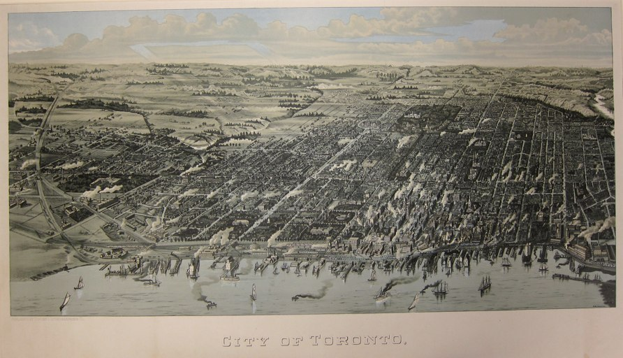 City of Toronto [Bird's Eye View], 1886, W. Wesbroom