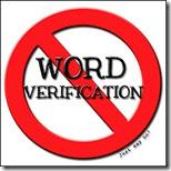 Verbotsschild Schild mit der Angabe Word Verification Verboten