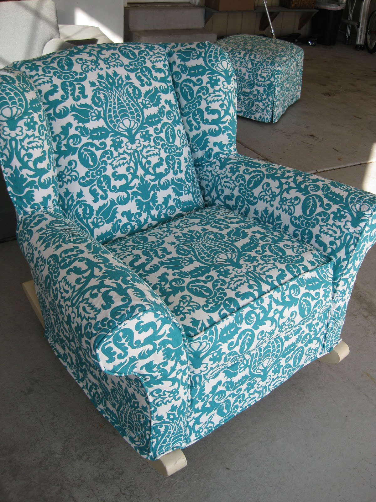 Strange Custom Slipcovers By Shelley Upholstered Rocking Chair Gmtry Best Dining Table And Chair Ideas Images Gmtryco