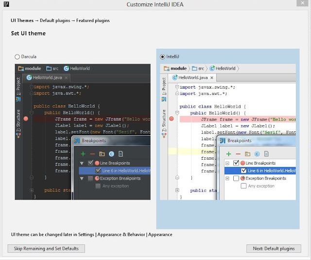 IntelliJ IDEA Community Edition Setup-Set UI Theme- Kotlin