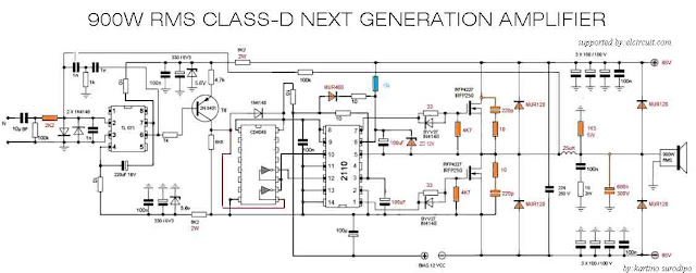 900w Class D Next Generation Power Amplifier Electronic