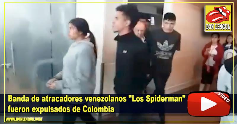 """Banda de atracadores venezolanos """"Los Spiderman"""" fueron expulsados de Colombia"""