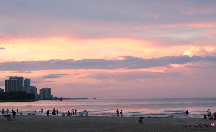 Chicago Summer Beach Sunset