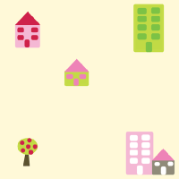houses and trees pattern