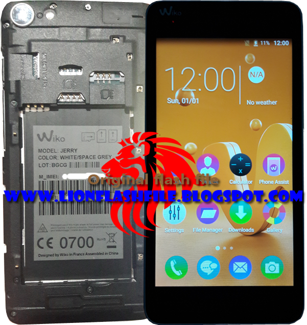 lionflashfile com: WIKO JERRY MT6580 Flash File 1000% Tested