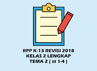 Download Gratis RPP Kelas 2 Tema 2 Kurikulum 2013 Revisi 2018