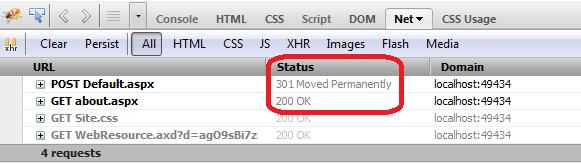 ASP NET 4 0 : Visualize Response RedirectPermanent