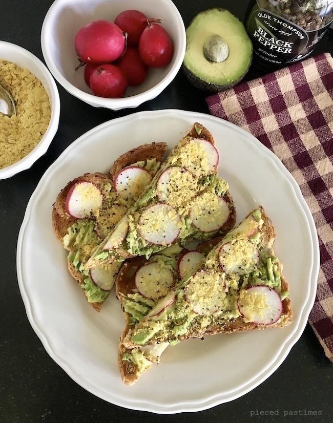 Vegan Loaded Toast 6 ways, Avocado Radish Toast, Vegan Toast, #ttoasttuesday