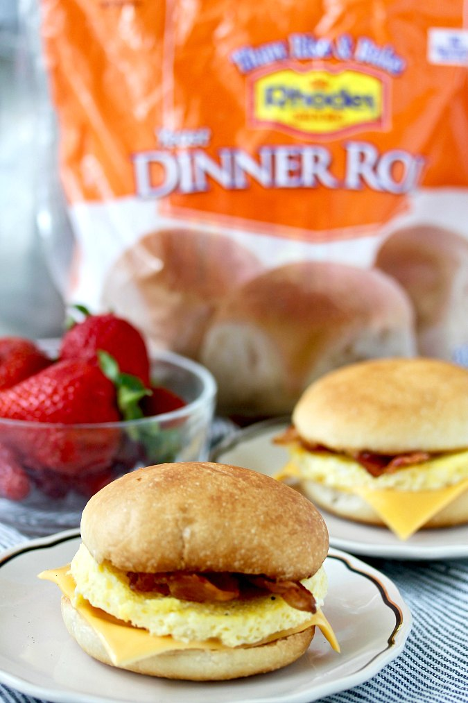 Make-ahead Freezer Breakfast Sandwiches  with Rhodes