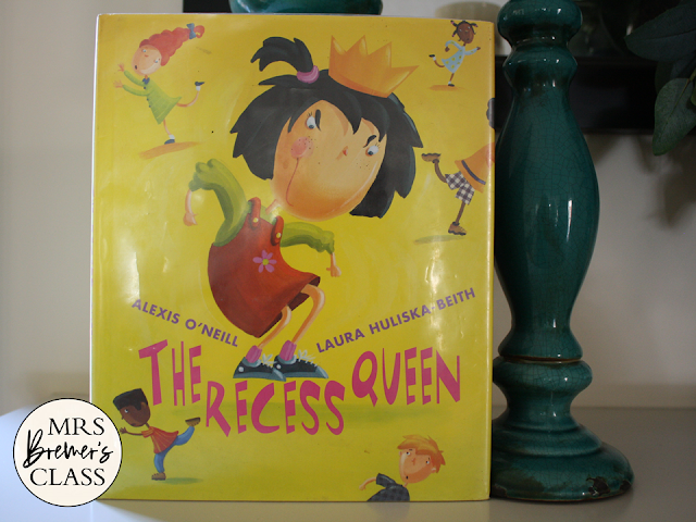 The Recess Queen book study activities unit with Common Core aligned literacy companion activities for Kindergarten and First Grade