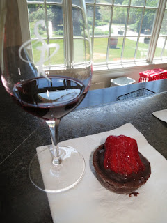 Stoney Ridge Cabernet Franc with Scratch Bakery Dark Chocolate and Strawberry Tart