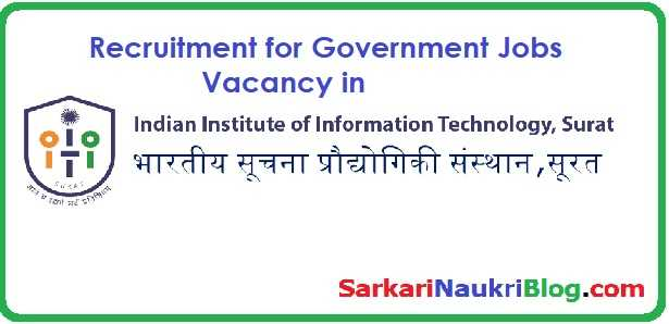 Government Jobs IIIT Surat