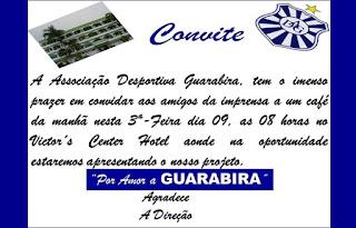 Nesta terça: Desportiva Guarabira se reúne com a imprensa para apresentar projeto