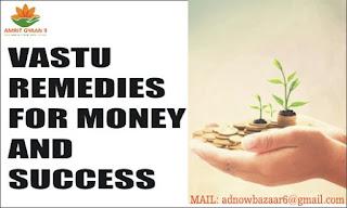 VASTU REMEDIES FOR MONEY AND  SUCCESS