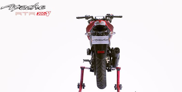 TVS Apache RTR 200 4V Naked bike rear image