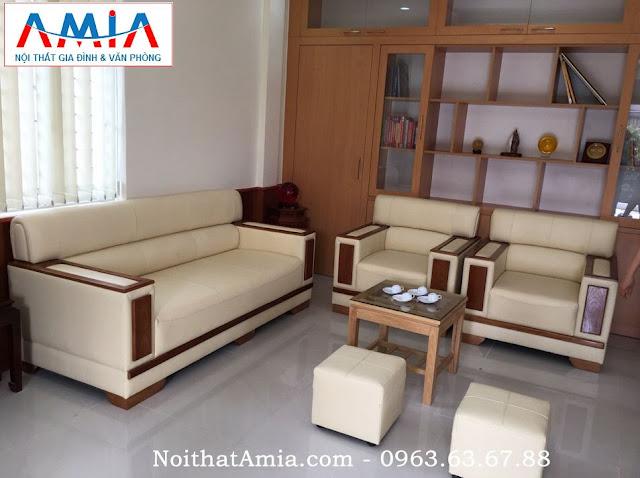 Hình ảnh cho bộ ghế sofa phòng khách đẹp được sản xuất theo yêu cầu tại Nội thất AmiA
