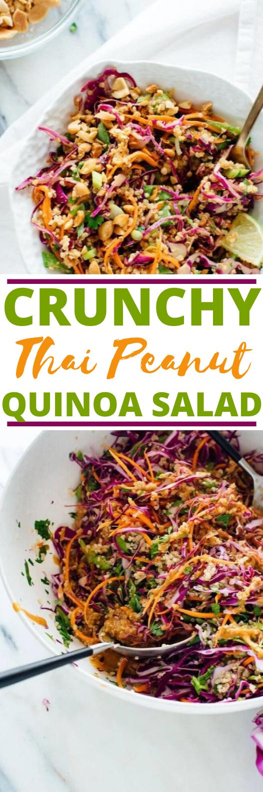 Crunchy Thai Peanut & Quinoa Salad #vegan #healthy #glutenfree #sidedish #salad