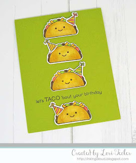 Let's Taco 'bout Your Birthday card-designed by Lori Tecler/Inking Aloud-stamps from Lawn Fawn