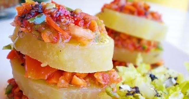 Blog de cuina de la dolorss mil hojas de ensalada de patata olla r pida - Patatas en olla rapida ...