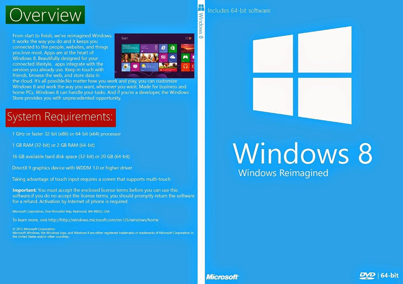 Windows 8 x64 Bits DVD Capa