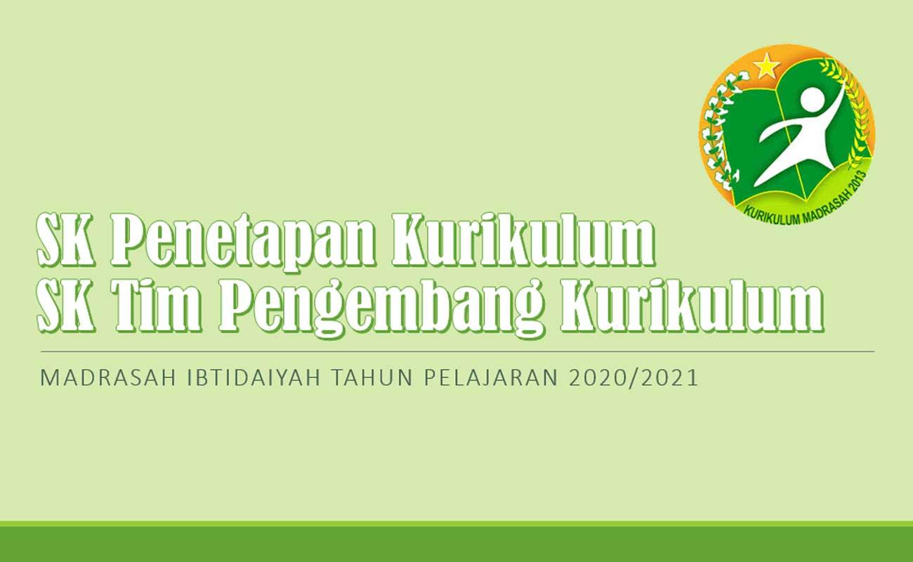 Contoh SK Penetapan dan Tim Pengembang Kurikulum