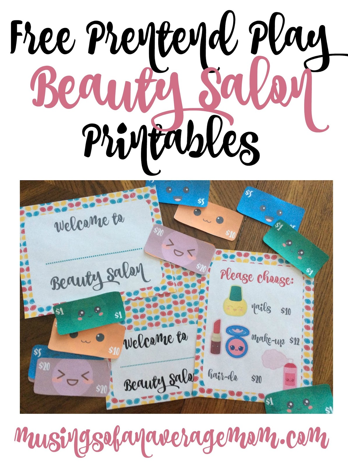 Musings of an Average Mom: Beauty Salon Printables