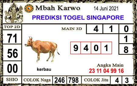 Prediksi Jitu Mbah Karwo SGP45 senin 14-06-2021