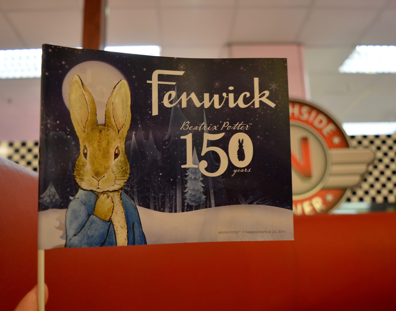 Fenwick's Window Newcastle 2016. Beatrix Potter / Peter Rabbit theme - Peter Rabbit flag