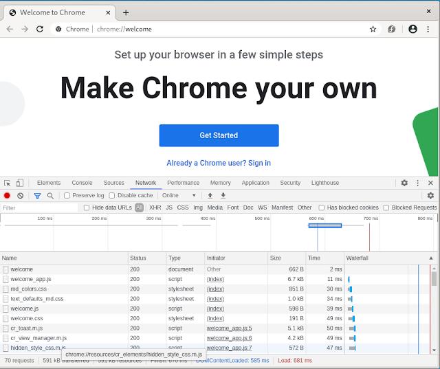 Google Chrome installed on Fedora