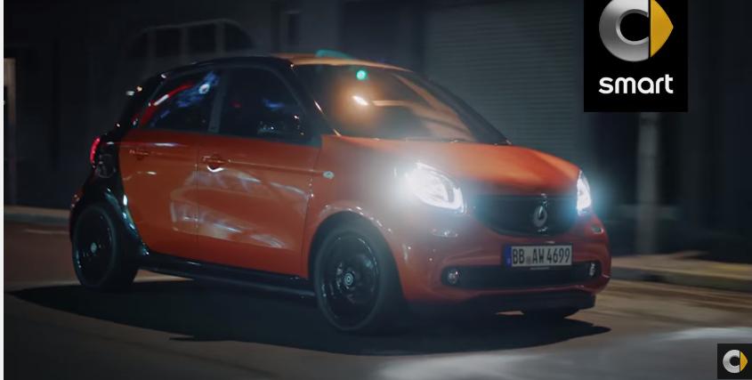 Pubblicità Smart Fourfour modello e modello - Spo con Ragazzi che urlano in macchina 2016