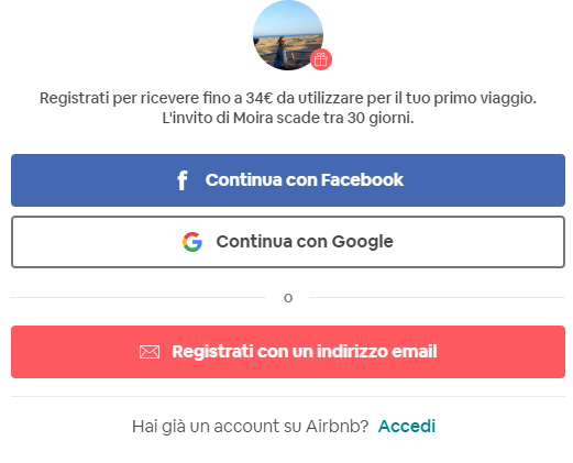 registrarsi su airbnb