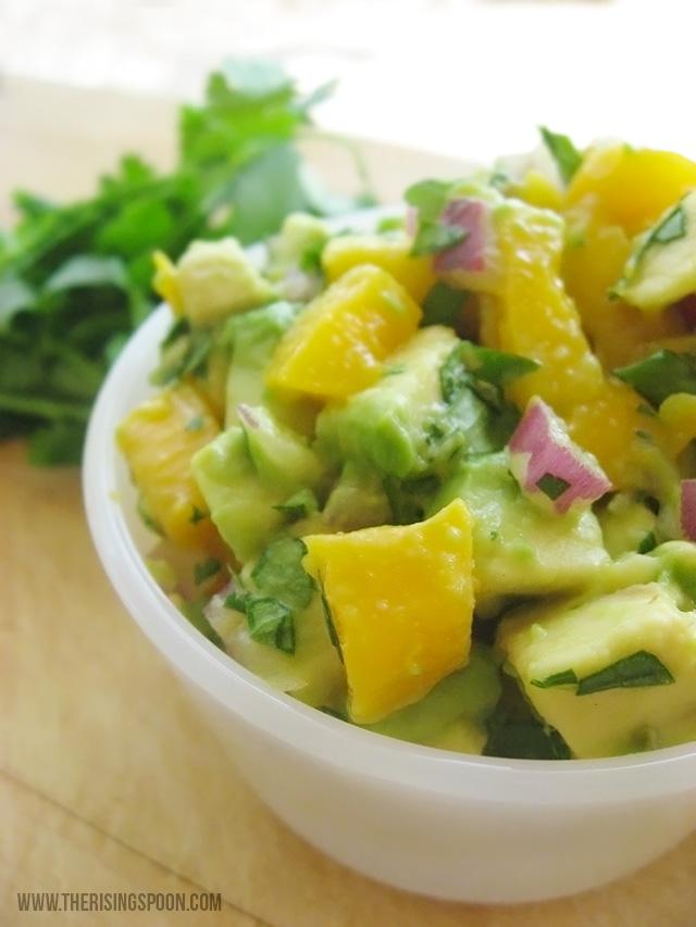 Mango Salsa with Avocado, Cilantro & Lime