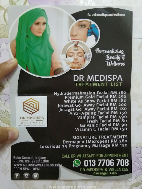 DR MEDISPA & WELLNESS KAJANG, FACIAL TREATMENT, HYDRA DERMA, MEDISPA KAJANG, REVIEW MEDISPA
