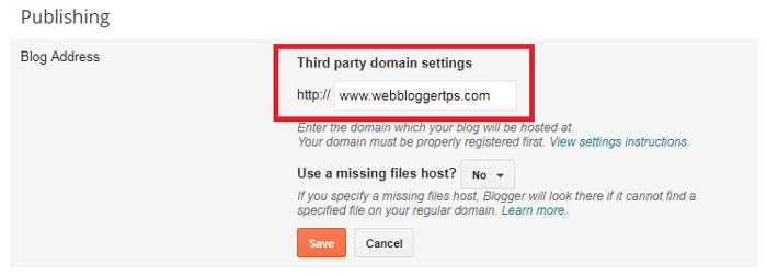 Set up Third Party URL
