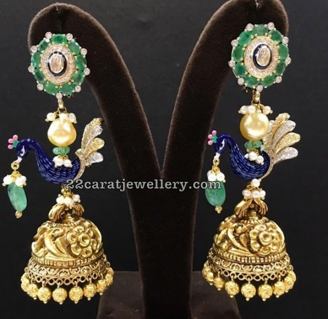 Classy Jhumkas and Chandbalis by Ananth Diamonds
