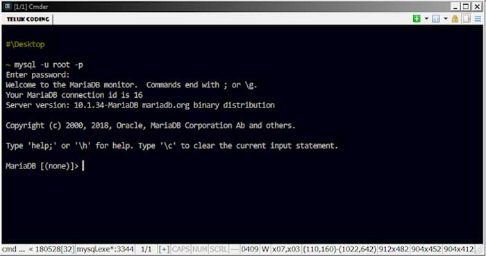 Cara Membuat Database MySQL di Command Line