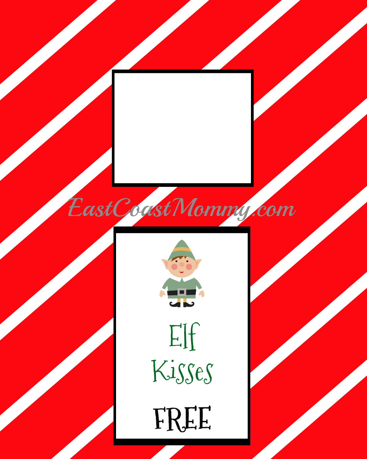 picture relating to Free Elf Printable known as East Coastline Mommy: Elf Kissing Booth (absolutely free printable)