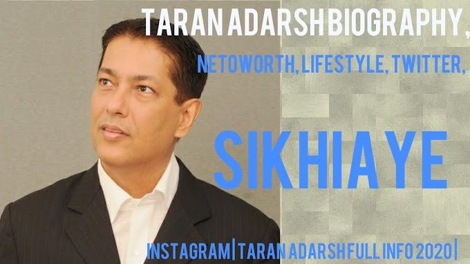 Taran Adarsh Biography, Netoworth, Lifestyle, Twitter, Instagram | Taran Adarsh Full Info 2020 |